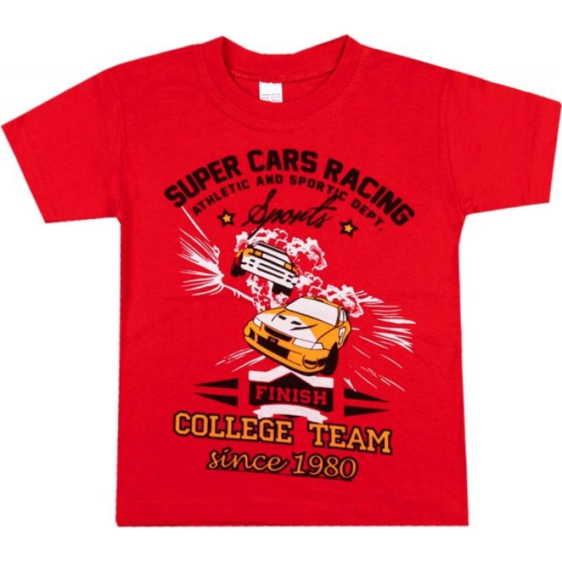 Тениска момче Кола в червено /104-128/ м.Т-5