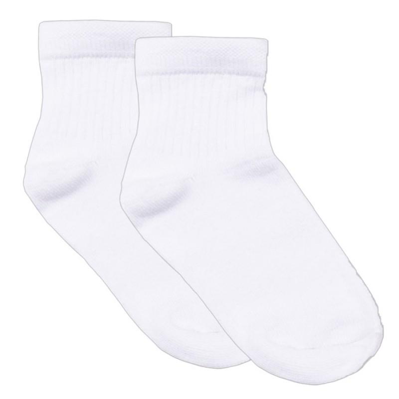 Чорапи с къс конч /памук-ликра/ в Бяло