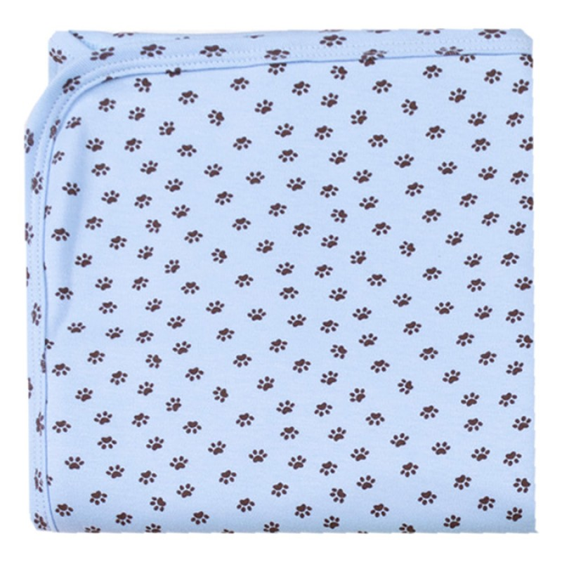 Пелена щампа Лапички в синьо -  80/90 - интерлог