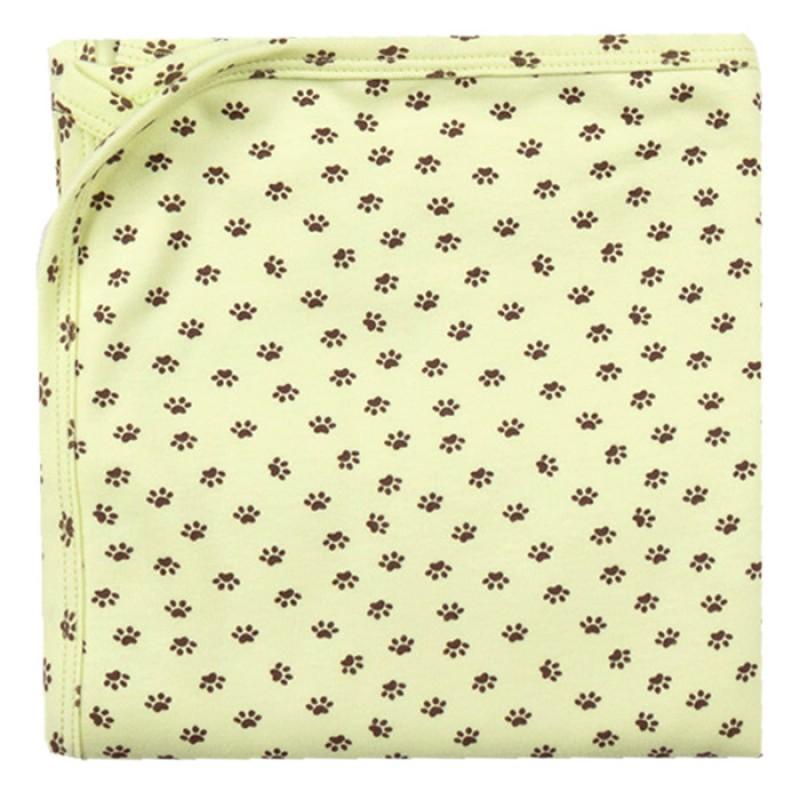 Пелена щампа Лапички в зелено -  80/90 - интерлог