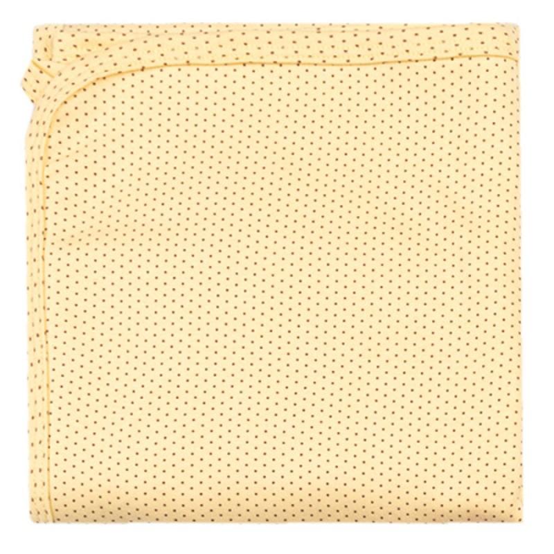 Пелена щампа Точици в жълто -  80/90 - интерлог