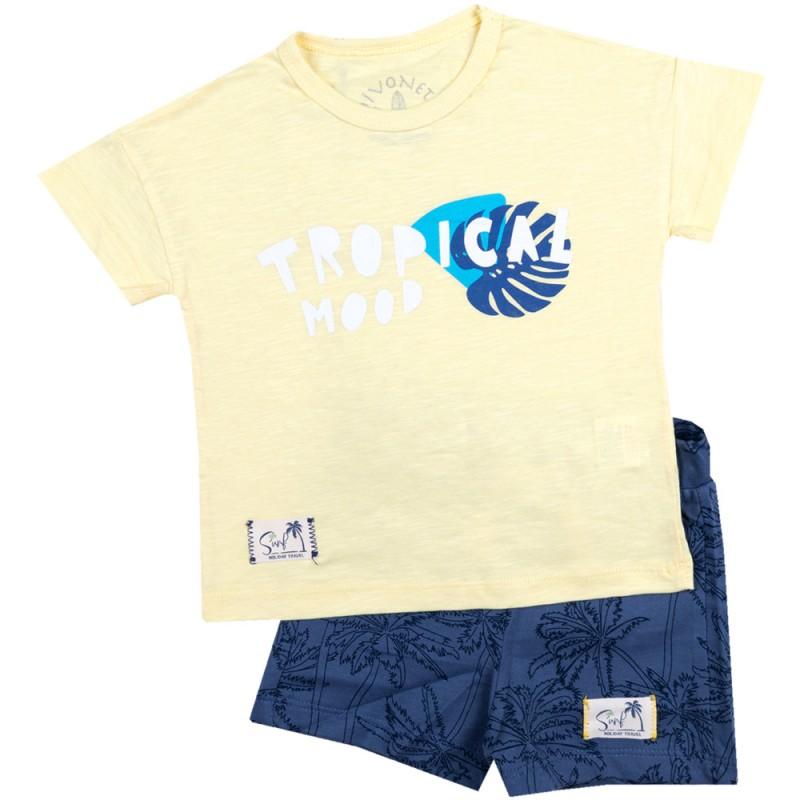 Комплект тениска с къси панталонки Tropic /80-98/