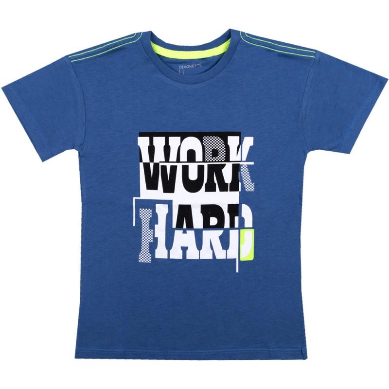 Тениска момче WorkHard /110-128/ в цвят парламент