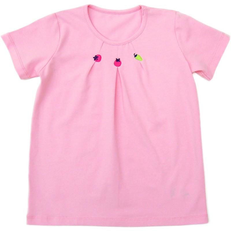 Блуза къс ръкав Плодчета /68-92/ в розово