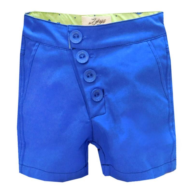 Къс панталон момче копчета /92-140/ в наситено син