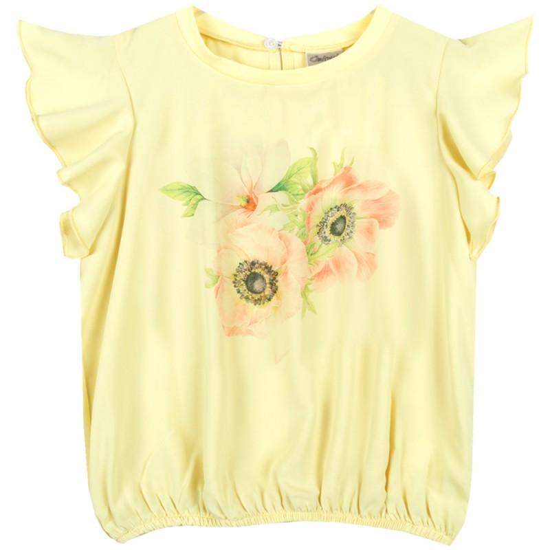 Блуза крилца 3 Цветенца в жълто /122-158/ м.601 338-3