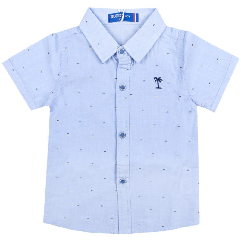 Риза к.р. Момче с палма /92-110/  в синьо