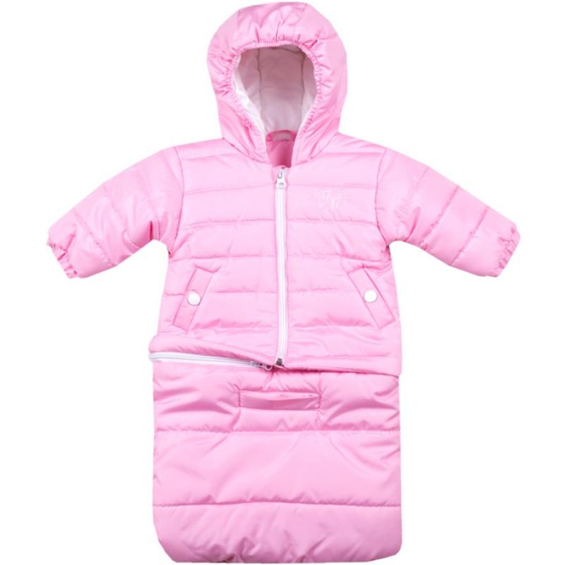 Бебешко яке-чувалче Вега М в розово