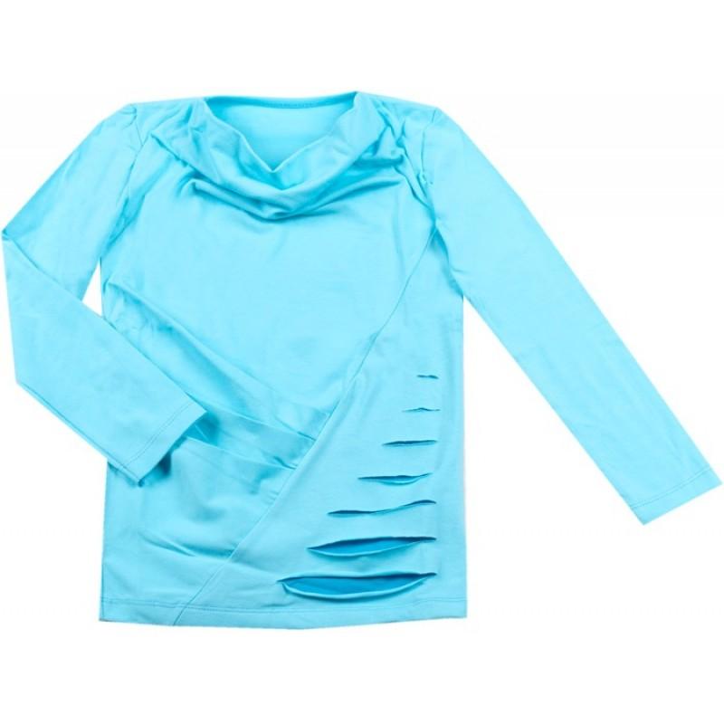 Блуза д.р. Момиче м.84  /98-140/ в eл. синьо