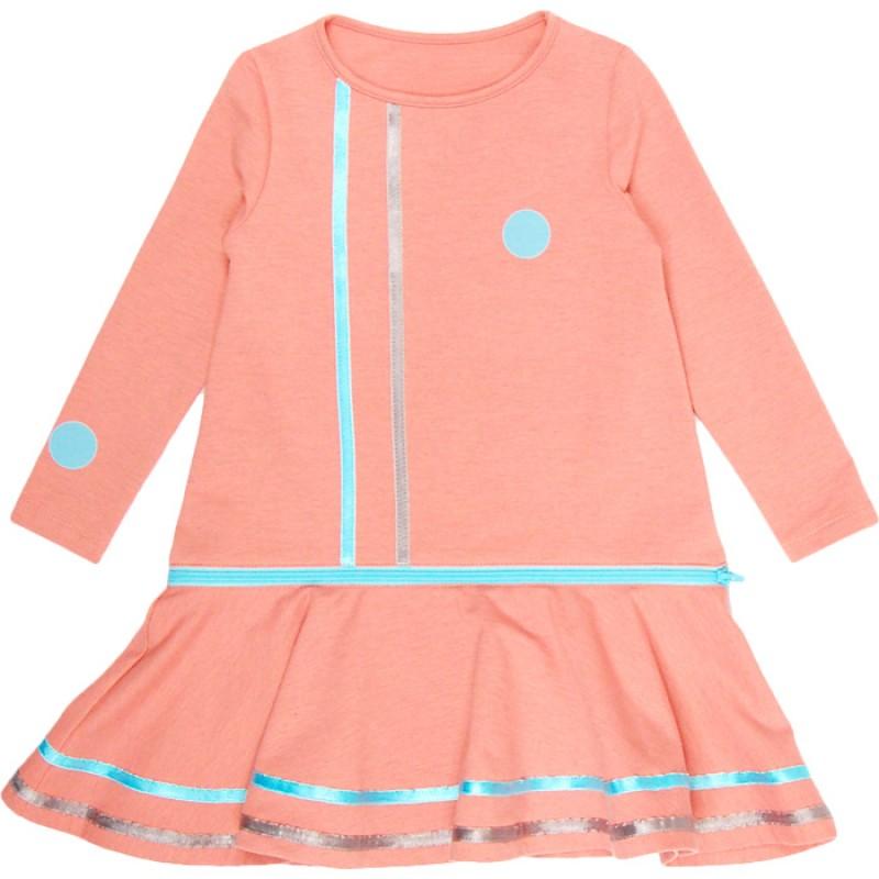 Рокля-блуза д.р. с цип м.310 /98-122/ в пудра меланж