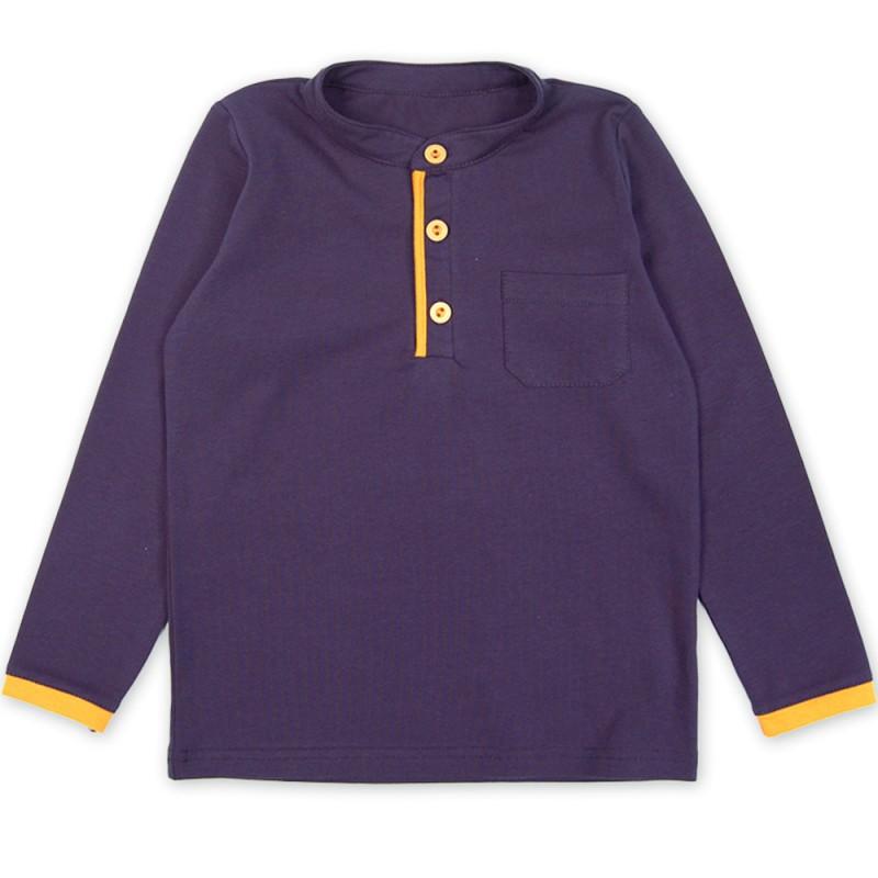 Блуза момче цветен шлиц /98-140/