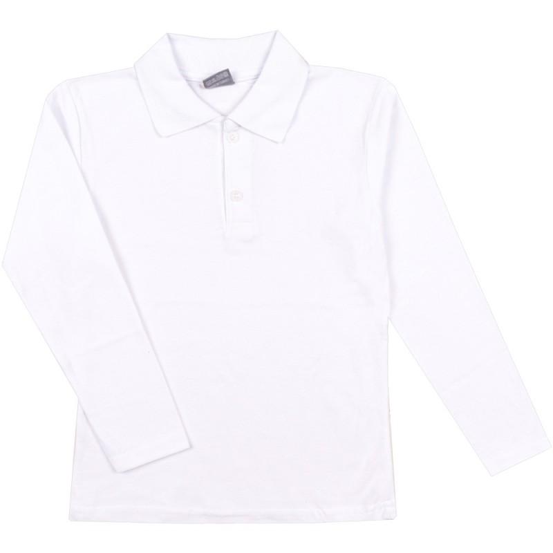 Риза д.р. Момче с яка /116-158/ в бяло