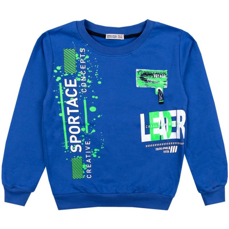 Блуза момче Creative в синьо /122-146/ вата