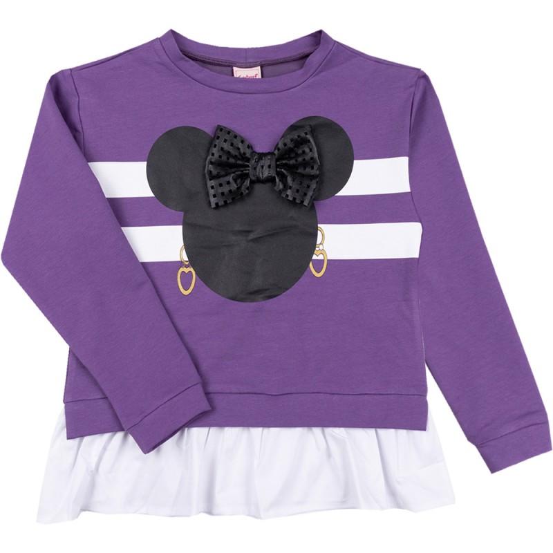 Туника /блуза/ дълъг ръкав в лилаво /98-122/ м.601 368