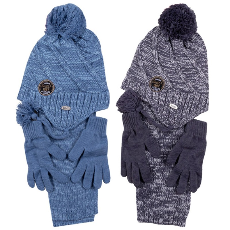 Комплект шапка, шалче и ръкавички за момче м.2940 /4 - 8 год./
