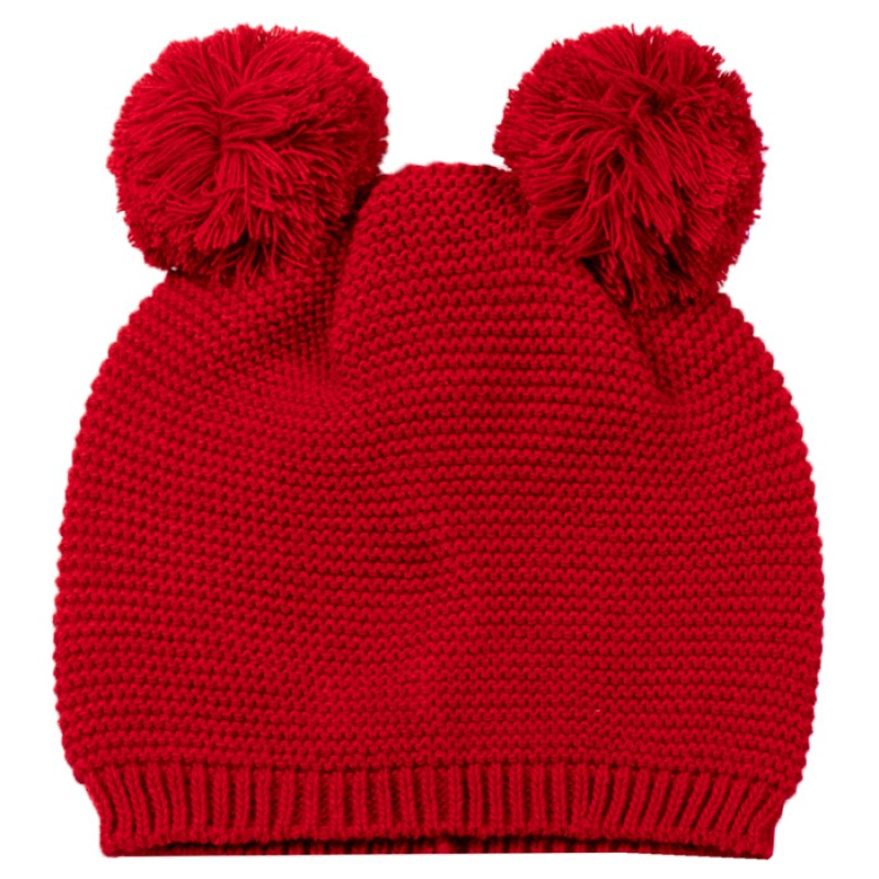Шапка Мече м.4077-4 /плетиво/ в червено